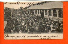 SIERRA LEONNE - Big Market On A Saturday Année 1906 (pli Coin) - Sierra Leone