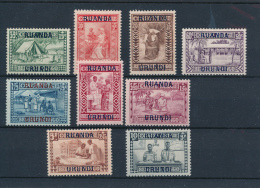 RUANDA URUNDI 1930 MISSIONARIES SET COB 81/89 LH