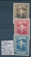 RUANDA URUNDI 1936 ISSUE QUEEN ASTRID AND CHILDREN COB 108/110 LH