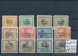 RUANDA URUNDI 1924 ISSUE COB 50/61 MNH