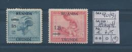 RUANDA URUNDI 1931 ISSUE COB 90/91 HEAVY HINGED