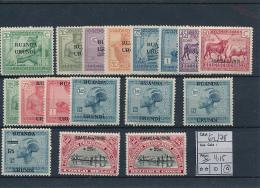 RUANDA URUNDI 1925 ISSUE COB 62/78 LH