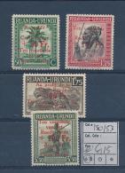 RUANDA URUNDI 1944 ISSUE RED CROSS COB 150/53 MNH