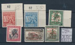 RUANDA URUNDI 1944 ISSUE RED CROSS COB 148/53 MNH