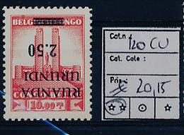 RUANDA URUNDI 1941 ISSUE COB 120CU MNH
