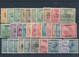 RUANDA URUNDI 1924/25 ISSUE COB 50/76 + 79/80 + 90/91 LH