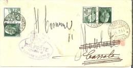 LBL33 - ITALIE PROPAGANDE 25c X2 USAGE TARDIF EN  PÉRIODE RSI 24/2/1944 AUTARIF RÉDUIT POUR LES MAIRIES - 1944-45 République Sociale