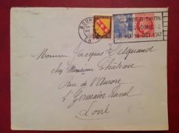 BOURGES Salon Gastronomique    Gandon Mazelin Blason Lorraine - Marcophilie (Lettres)