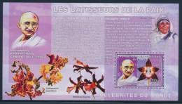 BP2 - Congo 2006 - Bloc Feuillet Neuf ** MNH - Bâtisseurs De La Paix - Gandhi - Mère Thérésa - Orchidées Orchids - Nobelprijs