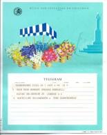 Telegram Telegramme Message Telegramm 1964 Huwelijk Marriage Mariage Heirat  Belgie Gelukwensen - Saisons & Fêtes