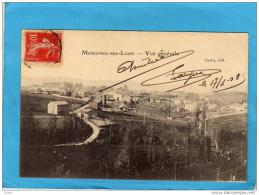MONISTROL Sur LOIRE-vue De L'entrée De La Ville    -a Voyagé En 1908-édition Cuerq - Monistrol Sur Loire