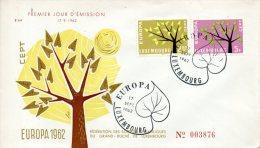 LUXEMBOURG. N°612-3 Sur Enveloppe 1er Jour De 1962. Europa´62. - Europa-CEPT