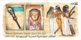 Uruguay 2015 ** Bloc 125 Años Momia Eso Eris. 83 Años RR.DD. Con Egipto. See Description. - Francobolli