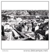 ASTRATP2853-LFTMD5859.Tarjeta Postal DE ASTURIAS.Edificios,casas.el Parque Y Viaducto Romano.PANORAMICA DE LUARCA.FOTO - Asturias (Oviedo)