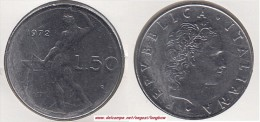 Italia 50 Lire 1972 Vulcano Km#95.1 - Used - 1946-… : Republic