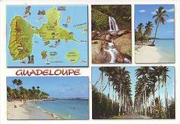 GUADELOUPE    H56    Contour Géographique , 4 Vues - Guyane