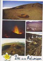 La Réunion H26   5 Vues , Le Volcan Et La Plaine Des Sables - Autres