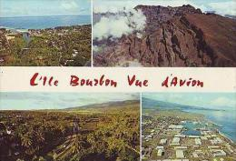 La Réunion H37  4 Vues.( L'ile Bourbon Vue D'avion ) - La Réunion