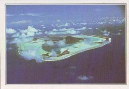 Polynésie Française    H1    Maupite.L´ile Vue D´avion - French Polynesia