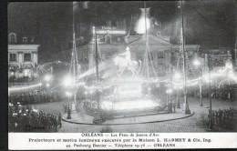 45, ORLEANS, LES FETES JEANNE D'ARC, PROJECTEURS ET MOTIFS LUMINEUX EXECUTES PAR LA MAISON L. HARMEY ET Cie, 2 SCANS - Orleans