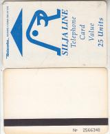 FINLAND - Silja Line, Teleste satellite magnetic telecard 25 units, CN : Nr. 2566348, used