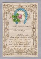 MOTIV KUNSTDRUCK Zierbrief 1917-06-14 AG Gösgen Präge Briefbogen Mit Golddruck Hufeisen Kleeblatt - Mitteilung