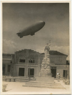 Real Photo Airship US Navy In Gibara Oriente Cuba . Statue In Gibara With Camaguey Scouts Dirigeable - Dirigibili