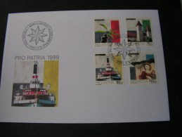 == Schweiz FDC 1999  Pro Patria  Kultur , Schiff 1681-1684 € 7,50 - FDC
