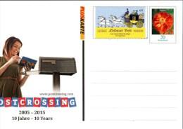 ! 2015 Bund Neue Ganzsache, Pluskarte, 10 Jahre Postcrossing - BRD