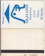 FINLAND - Silja Line, Teleste satellite magnetic telecard 50 units, CN : 50 109562, used