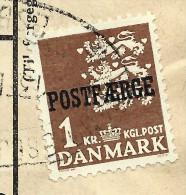 """DANEMARK - Timbre Surchargé """" Postf Aerge """" Sur Document En 1962 - à Voir - Lot P8042 - Brieven En Documenten"""