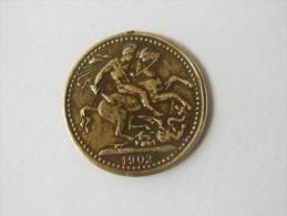 MEDAILLE Royale De 1902 KING Edouard VII - Cavalier St Georges Terrassant Le Dragon - Royaux/De Noblesse