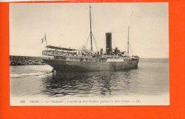 """Algérie - ORAN - La 'Medjerda"""", Courrier De Port Vendres Quittant Le Port D'Oran (paquebot ) - Oran"""