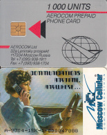 RUSSIA - Woman Drver On Phone, Moscow Cellular, Aerocom Telecard, First Issue 1000 Units, CN : A-9304-15K, Used - Russia
