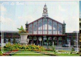 Cp Trains - 59 Nord - Gare SNCF De Tourcoing Et La Place - Tourcoing