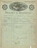 Ancienne Facture à Entete  Delizy Et Doistau Fabrique De Liqueurs Et Alcools Supérieurs  Pantin 06/11/1909 - Factures