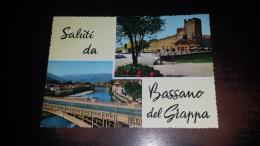 C- 40677 SALUTI DA BASSANO DEL GRAPPA PANORAMA PONTE CASTELLO - Vicenza