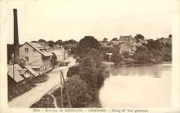 - Ille Et Vilaine - Ref B873- Environs De Domalain - Carcraon - Etang Et Vue Generale - Train - Usine -carte Bon Etat - - Francia
