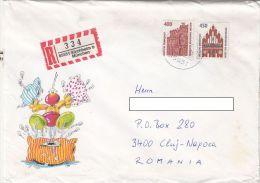 24065- DRESDEN OPERA, NEUBRANDENBURG DOOR STAMPS, HUMOUR, CARTOONS, SPECIAL COVER, 1996, GERMANY - Storia Postale