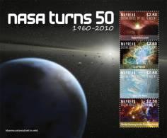 sgr1003sh Mayreau St. Vincent 2010 NASA Turns 50 s/s Space