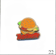 Pin´s - Alimentaire - Fromage Bel - Toastinette N° 01 - Hamburger. Est. A. Bertrand. T382-22A - Food