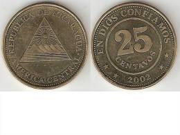 *nicaragua 25 Centavos 2002 Km 99  Unc - Nicaragua