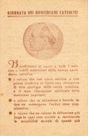 Santino Antico GIORNATA DEI QUOTIDIANI CATTOLICI, PAPA PIO XII, 1947 - OTTIMO L34 - Religione & Esoterismo