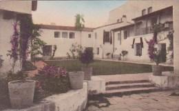 inner Court De La Guerra Studios Santa Barbara Calfornia Handcolored Albertype