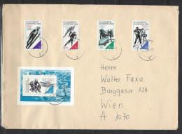DDR - Beleg Mi-Nr. 3140 - 3143 + Block 90 - Olympische Winterspiele Calgary - [6] Democratic Republic