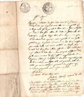 24 Mai 1815 - Cachet SOL .5. - Dis. Au Delà Des Alpes - 50 Ces - Italien ? Espagnol ? Corse ? Patois ? - 1800 – 1899