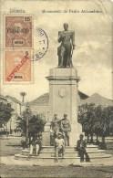 Republica Portugueza D' ANGOLA ¤ LOANDA ¤ Monumento De Pedro Alexandrino  Animée Et Circulé - Portugal