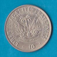 HAITI -  10 Centimes 1975 - Haïti