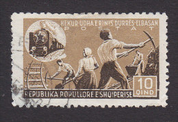 Albania, Scott #397, Used, Young Railway Laborers, Issued 1947 - Albania
