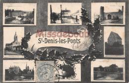 28 -  SAINT DENIS LES PONTS - Multivues   - 2 Scans - 1906 - Autres Communes
